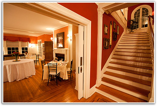 The Front Foyer of Rosemont Manor: Northern Virginia Bed and Breakfast