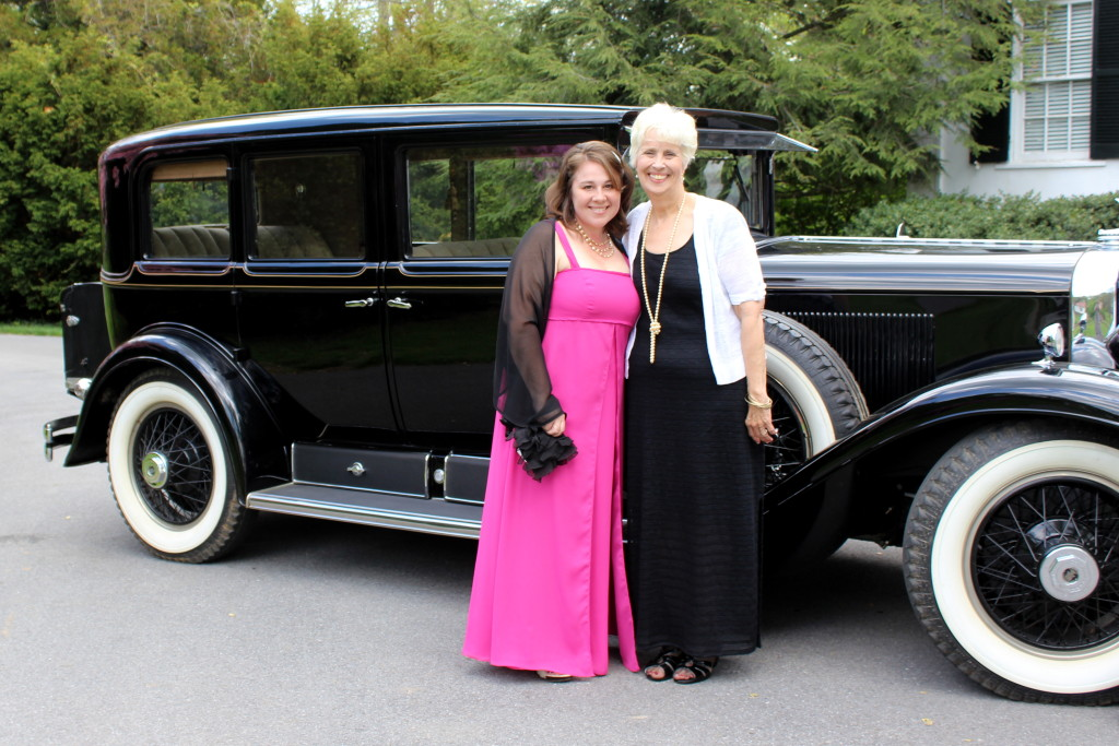 These beautiful ladies chose wonderful outfits - one matched the Rolls Royce, and the other matched all the pink dogwoods in bloom all over the property!
