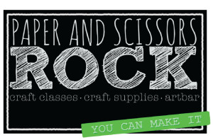 paper and scissors rock logo
